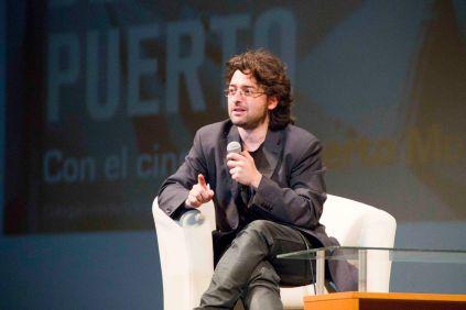 Alberto Morais durante el coloquio.