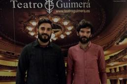 De izqda a dcha: El crítico Dailo Barco Machado y el cineasta Ángel Santos.