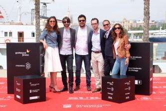 El equipo de 'Callback' durante la presentación en el Festival de Cine de Málaga.