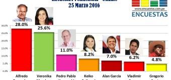 Encuesta Presidencial, Online – 25 Marzo 2016