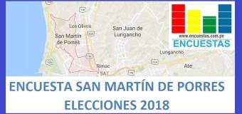 Elecciones 2018 │Encuesta Alcaldía de San Martín de Porres – Agosto 2017
