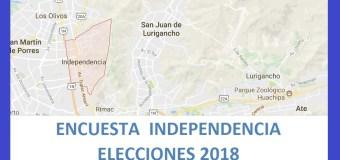 Encuesta Alcaldía de Independencia – Setiembre 2018