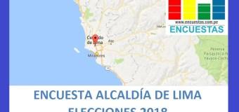 Encuesta Alcaldía de Lima – Setiembre 2018