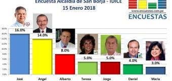 Encuesta San Borja, IDICE – 15 Enero 2018