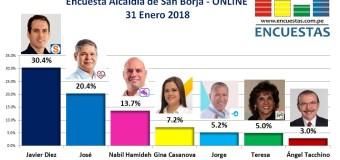 Encuesta Online Alcaldía de San Borja – 31 Enero de 2018