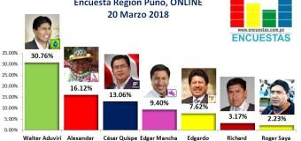 Encuesta Online Región Puno – 20 Marzo 2018