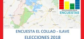 Encuesta Alcaldía Provincial de El Collao – Ilave – Junio 2018