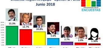Encuesta Región Arequipa, Opinión & Punto – Junio 2018