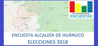 Encuesta Alcaldía de Huánuco –Agosto 2018