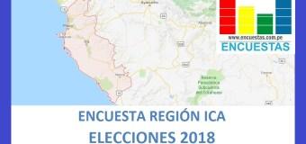 Encuesta Gobierno Regional de Ica – Agosto 2018