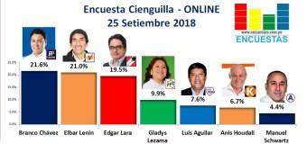 Encuesta Cieneguilla, ONLINE – 25 Setiembre 2018