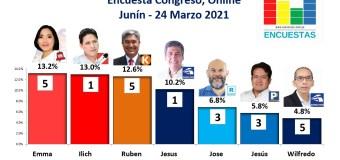 Encuesta Congreso, Online (Junín) – 24 Marzo 2021