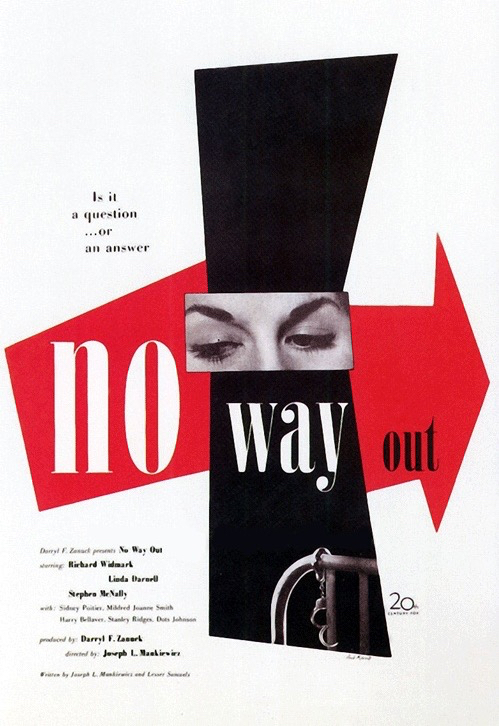 No Way Out film poster - Designed by Paul Rand