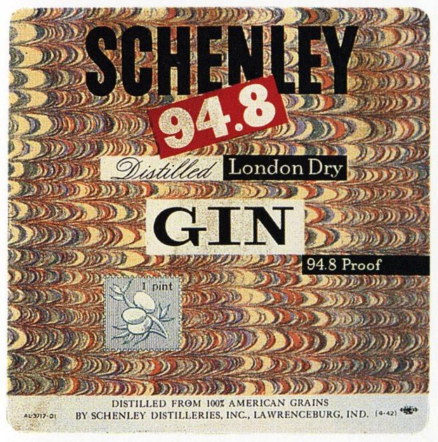 Paul Rand Gin Label