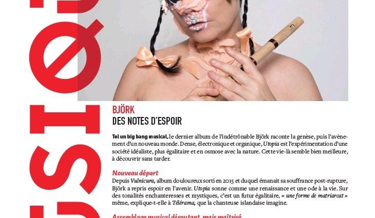 Musique - Borjk in Causette Magazine