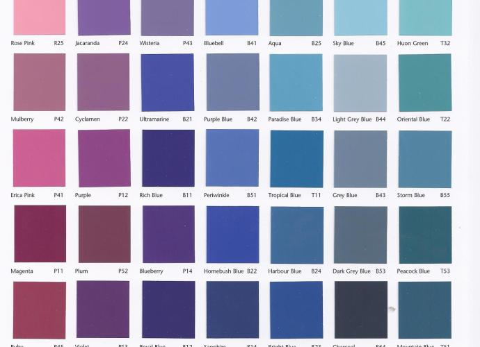 AS 2700 Colour Sample