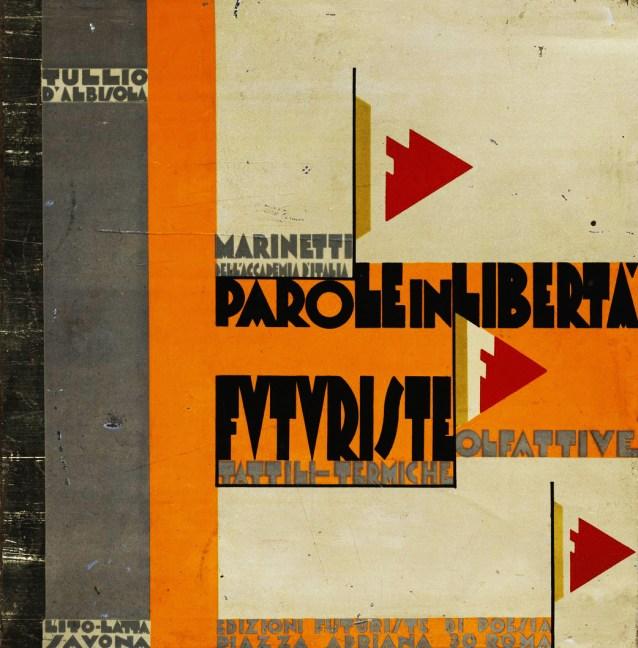 Front cover from Parole in Liberta Futuriste. 1924