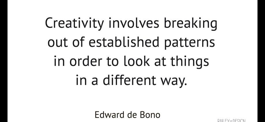 Edward de Bono quote