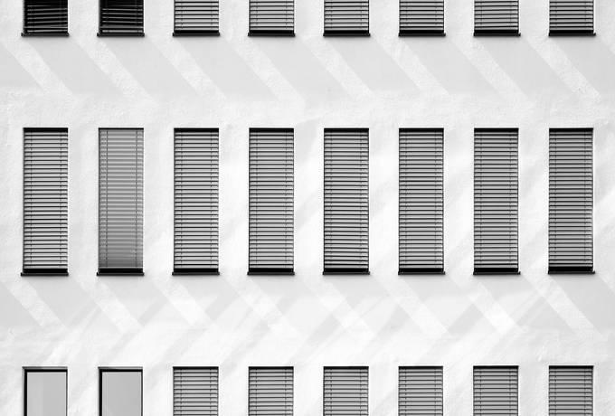 Grey Facade of a Building