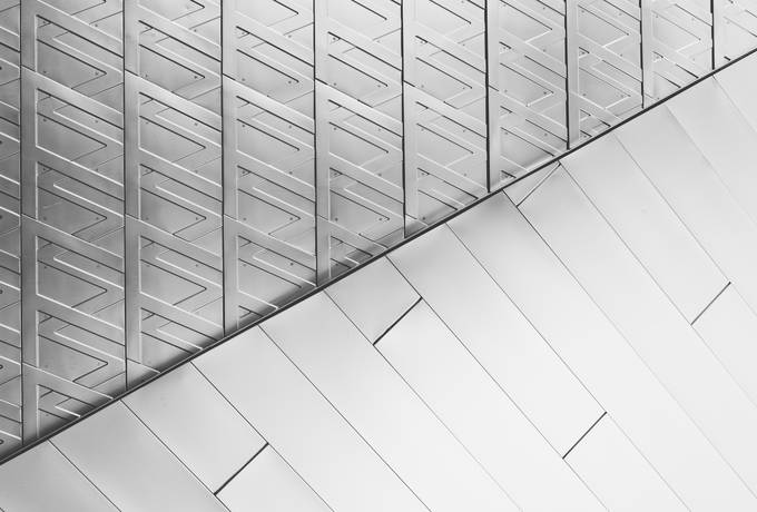 Abstract Silver Architectural Pattern