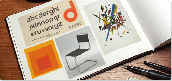 Bauhaus typography and furniture example