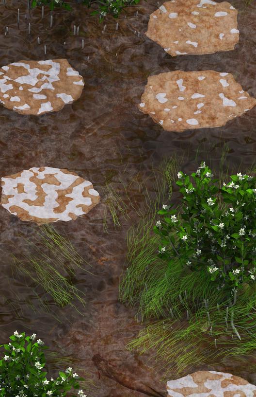 Refuge-ground : Towards habitable offshore salt platforms. Image Courtesy of Blank Space