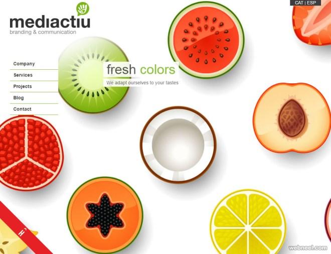 mediactiu graphic design website