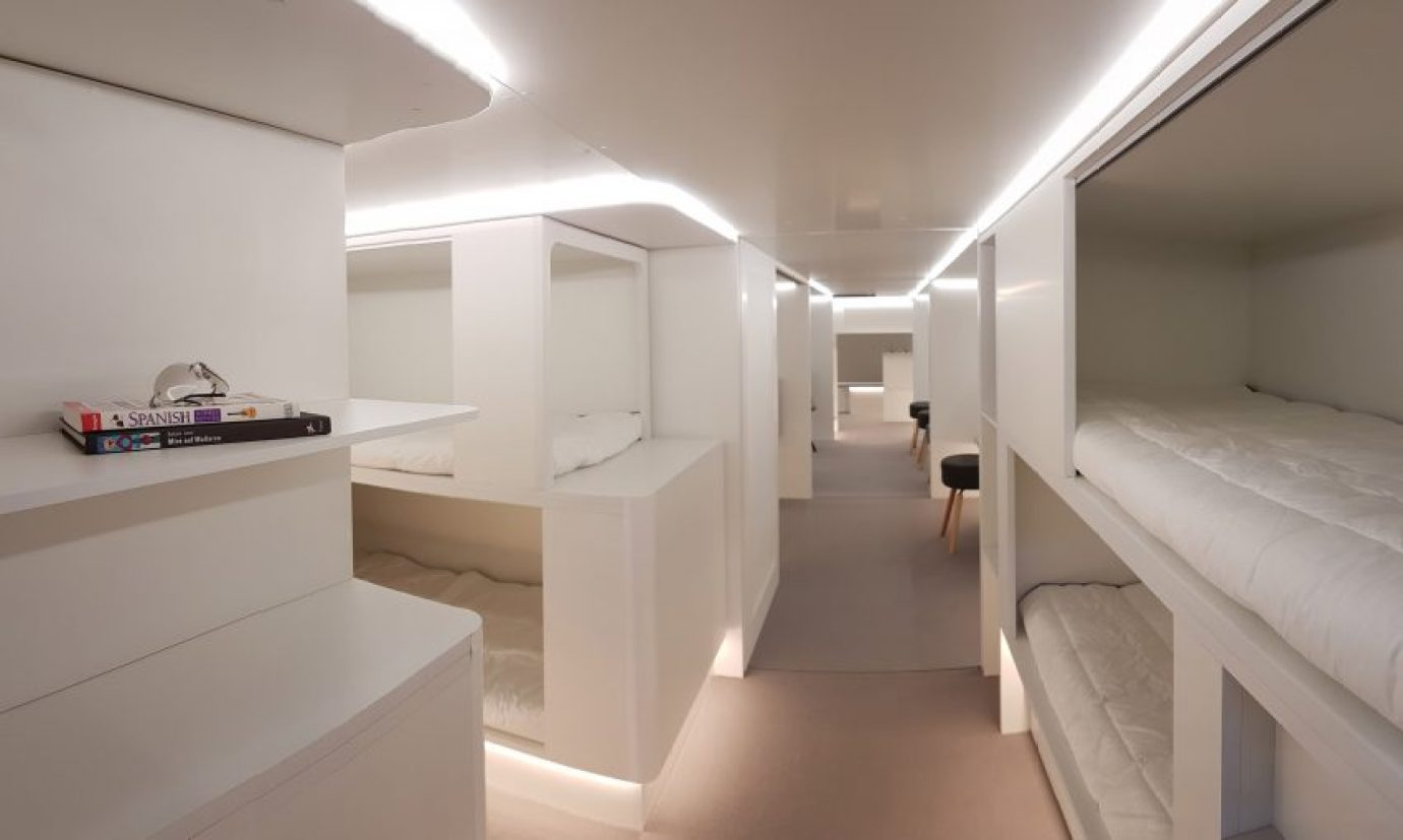 Airbus debuts bunk-bed designs for commercial passenger planes