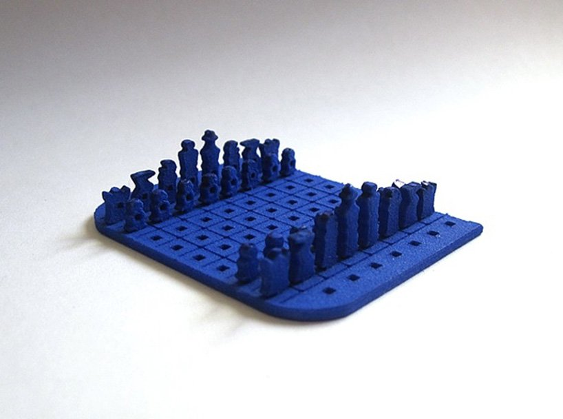 3D printed credit card sized chess