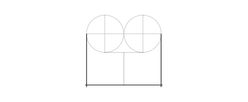 draw a rectangle udner circles