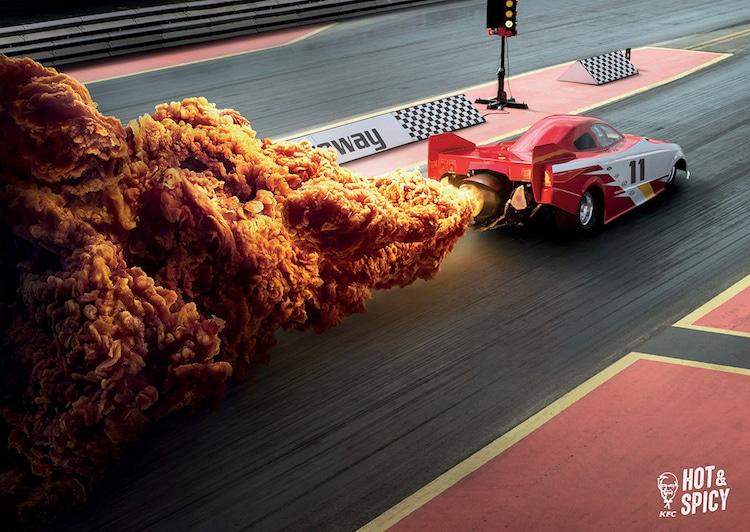 KFC Hong Kong Hot and Spicy Chicken Ads Ogilvy and Mather Hong Kong