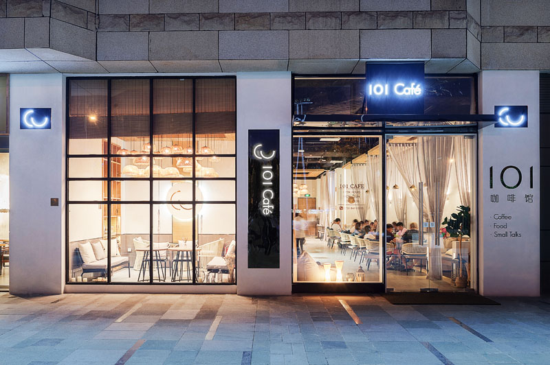 Giovanni Ferrara ofFar Office has designed 101 Café, a new modern coffee shop in Changsha, China. #ModernCoffeeShop #ModernCafe