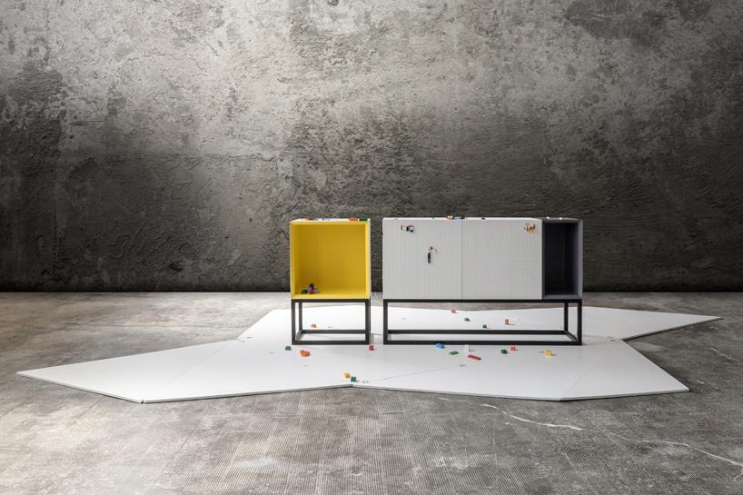 NINE associati create textured furniture for adult lego fans
