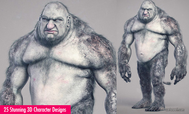 25 Best and Beautiful 3D Monsters and 3D Character Designs