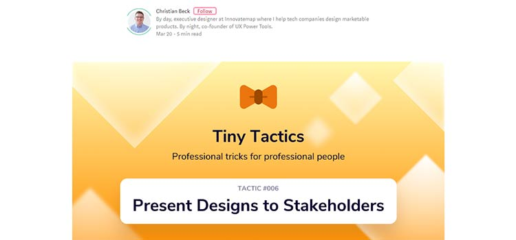 How to Present Your Design to Stakeholders