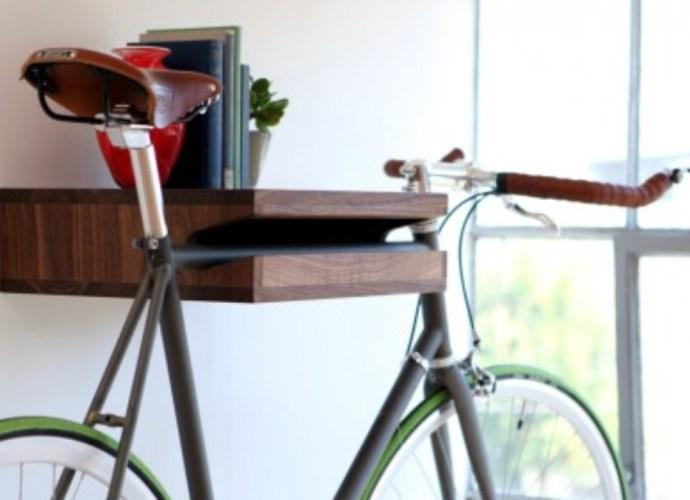 Bike Rack Art dual purpose book shelf and bike rack