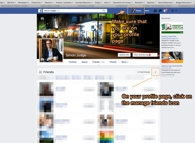 Facebook Friends screenshot
