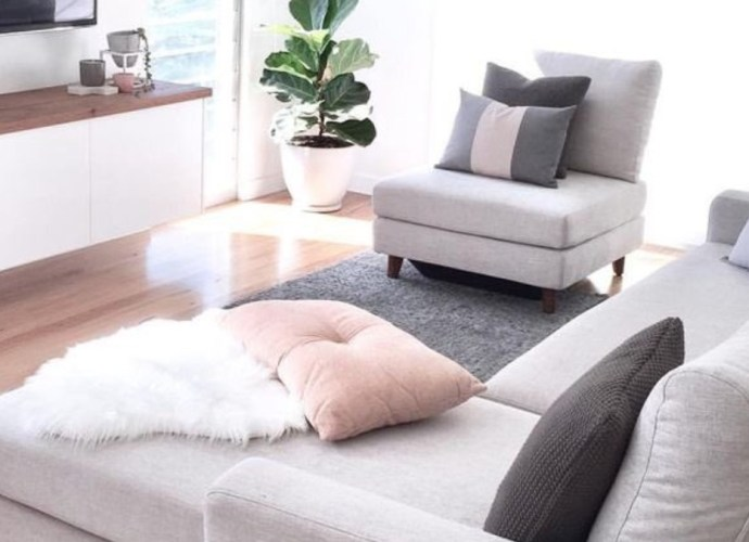 Small space ideas photo of a living room