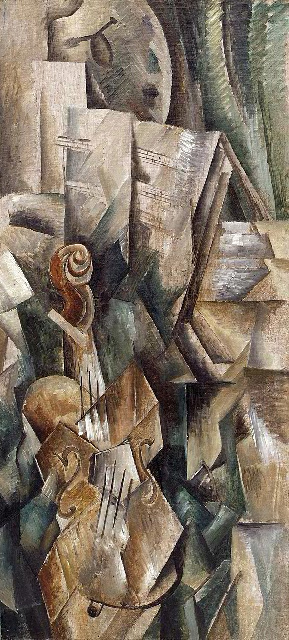 Violin and Palette (1910) Georges Braque