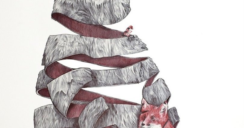 Curious unravelling animal illustrations based on a dream