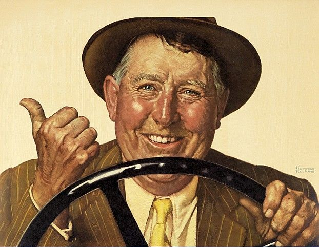 Hop in Neighbor by Norman Rockwell