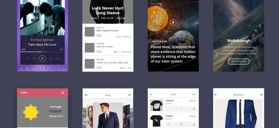 Minimalist UI Kit Free PSD