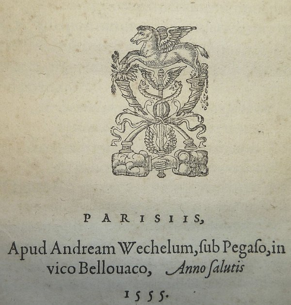1555 book from printer Andreas Wechel