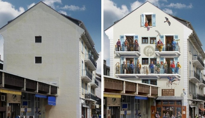 French Street Artist Turns Boring CIty Walls into Hyper-Realistic Scenes