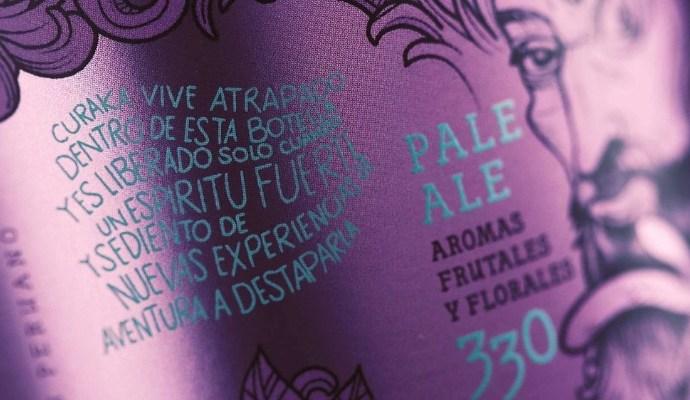 Peru pale ale beer branding Aromas Fruitales Y Florales