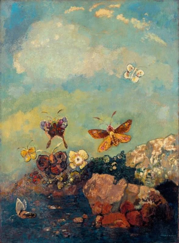 Butterflies by Odilon Redon 1910