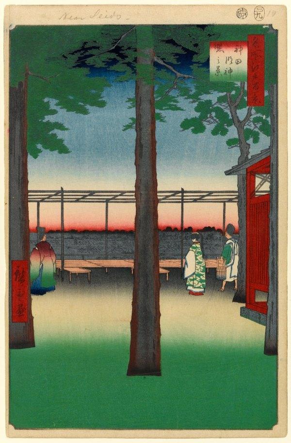 Dawn at Kanda Myojin Shrine, No. 10 in One Hundred Famous Views of Edo