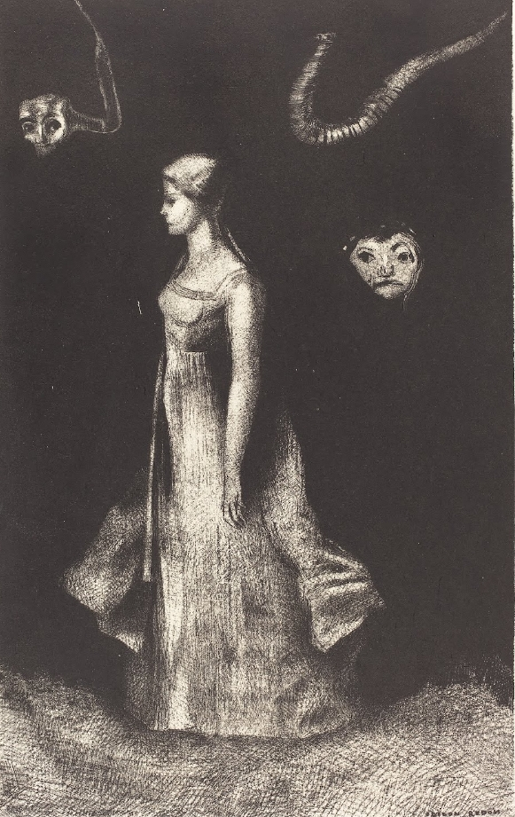 Hantise (Obsession) by Odilon Redon 1894