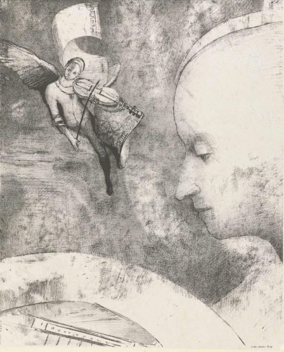 Helmelse kunst by Odilon Redon 1894