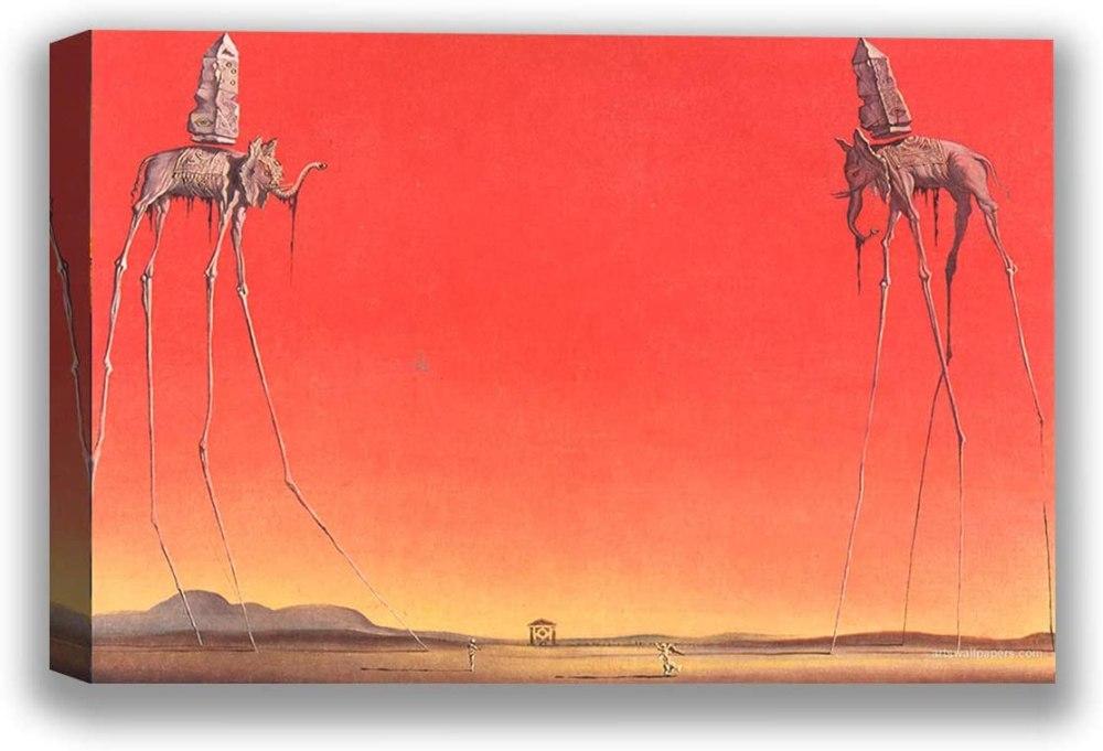 The Elephants (1948) by Salvador Dali Art Print